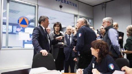 Maltempo, Renzi da Torino avverte che la fase di emergenza ancora non è finita. foto lospiffero.com